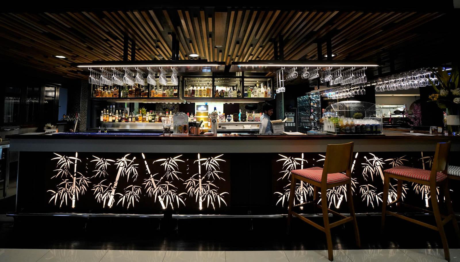 The bar at Madame Za